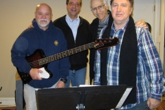 Music Director Joe Long and Jersey Four Cast Members