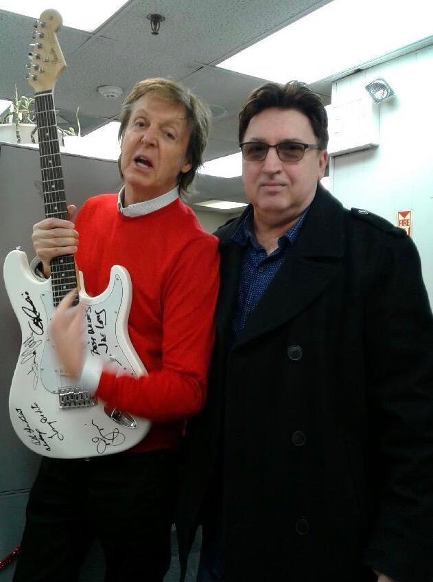 Sir Paul McCartney & Jersey Four member Anthony Newell