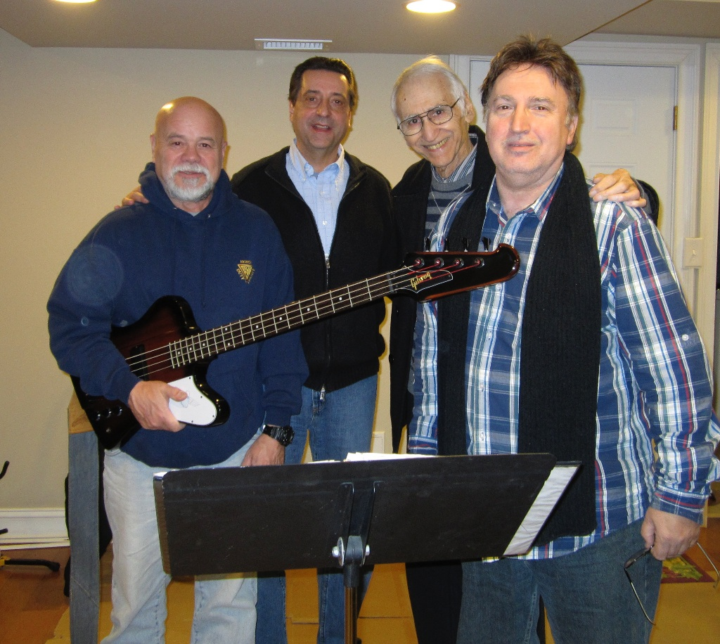 Music Director Joe Long and Jersey Four Cast Members