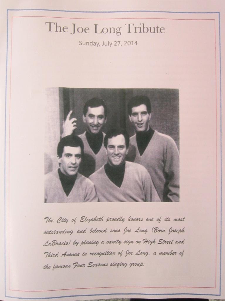 The Joe Long Tribute Program
