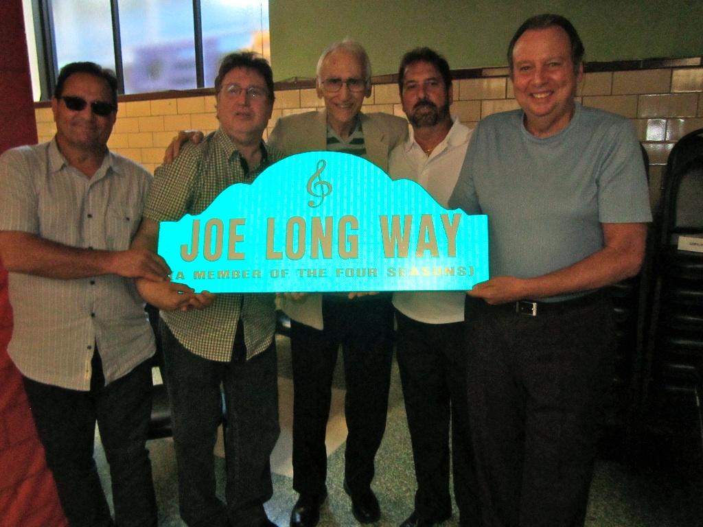 Jersey Four Cast members join Joe (LaBracio) Long at his street dedication