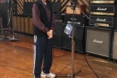 Joe Long Getting Ready to Sing