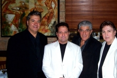 Jersey Four Cast Members with Frank Vincent